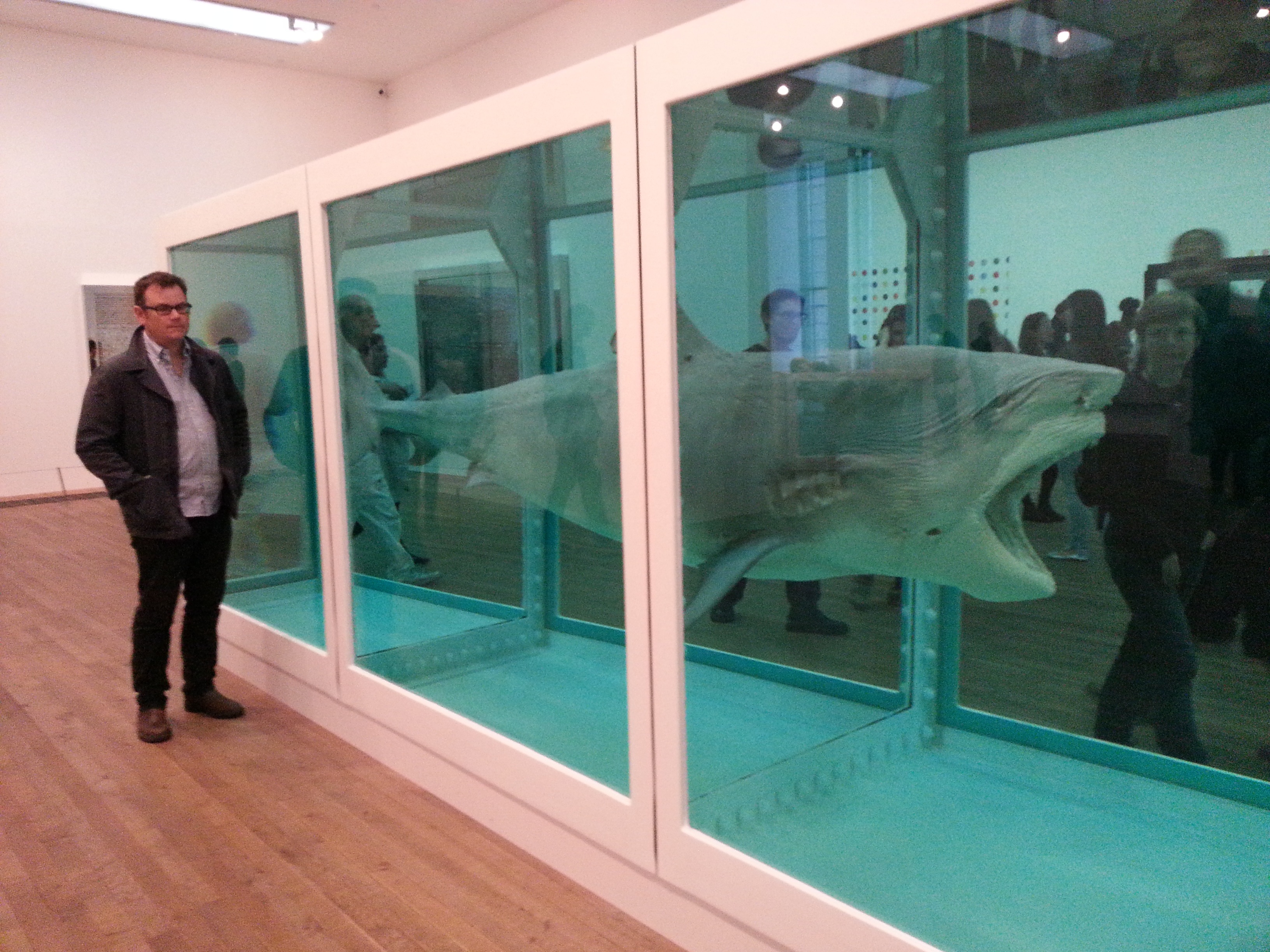 A description of the physical impossibility of death in the mind of someone living by damien hirst